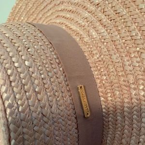 Ellen Tracy Accessories - Flat rimmed blush straw hat